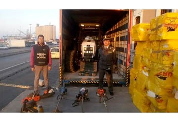 Due trattori rubati a bordo di un tir diretto in albania for Attrezzi agricoli usati piemonte